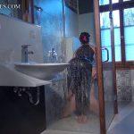 Spandex Worship in the Bathroom