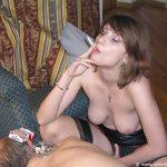 Smoking nylon findom